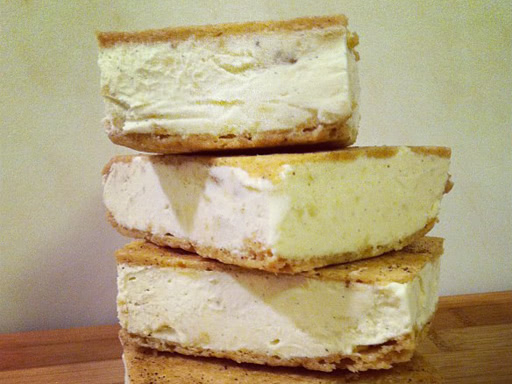 banana ice cream espresso sandwiches