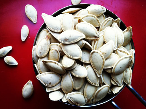 crispy toasted pumpkin seeds